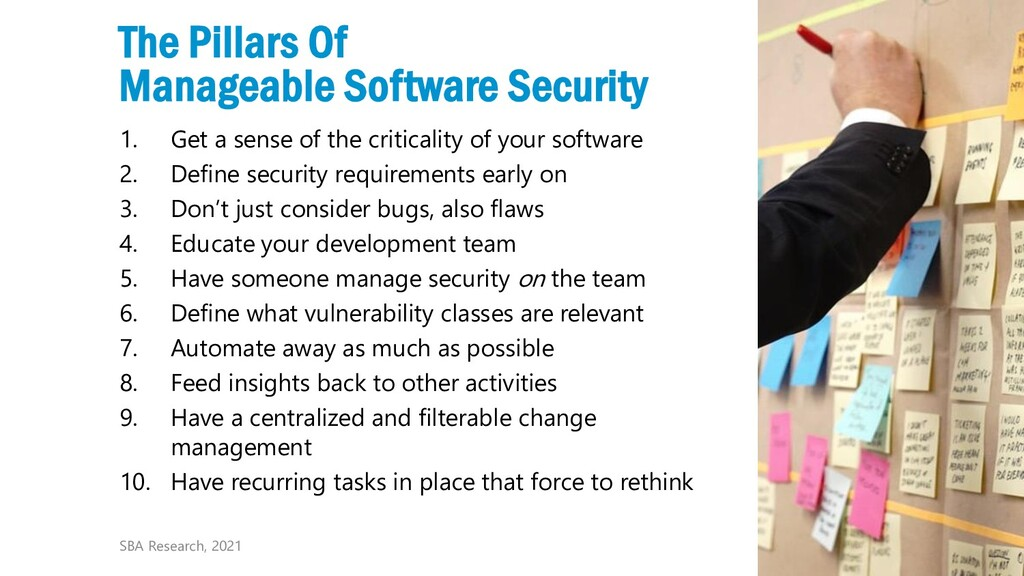 18 The Pillars Of Manageable Software Security ...