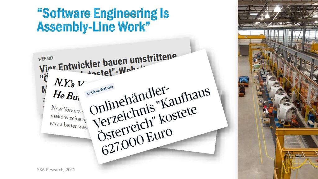 """5 """"Software Engineering Is Assembly-Line Work"""" ..."""