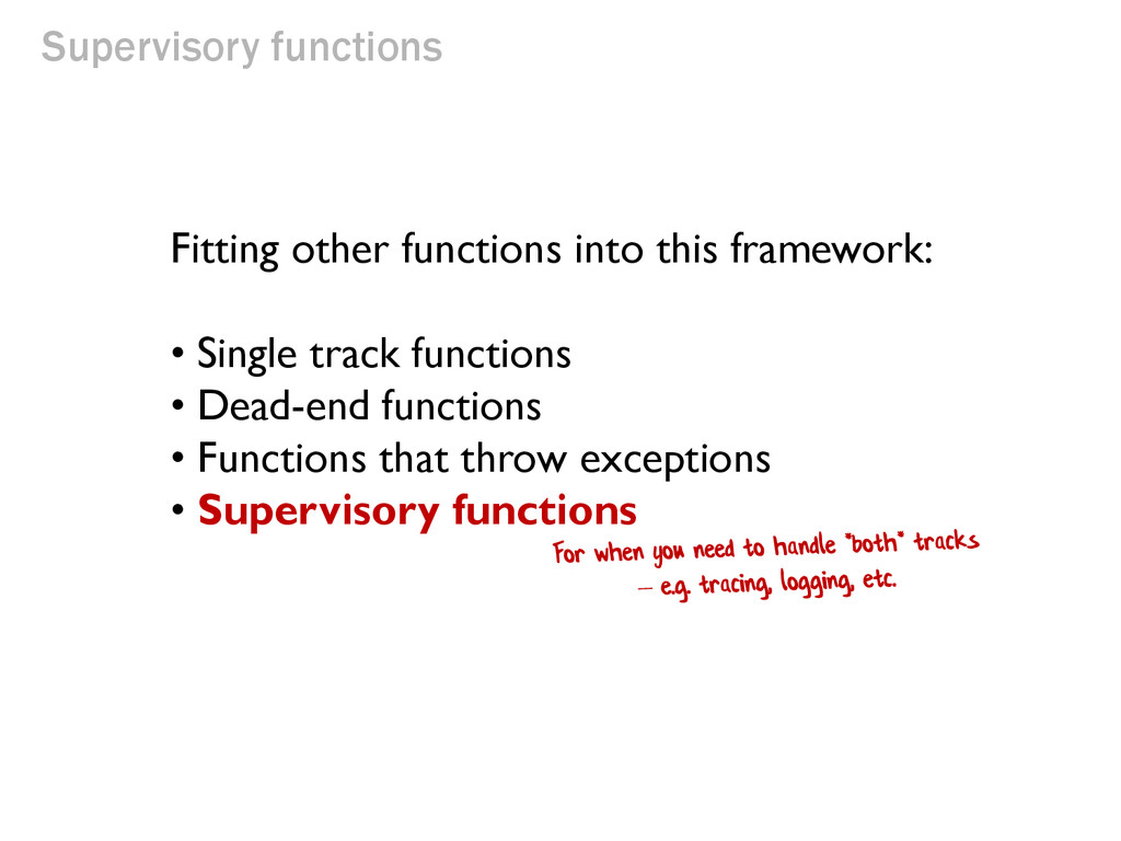 Supervisory functions Fitting other functions i...