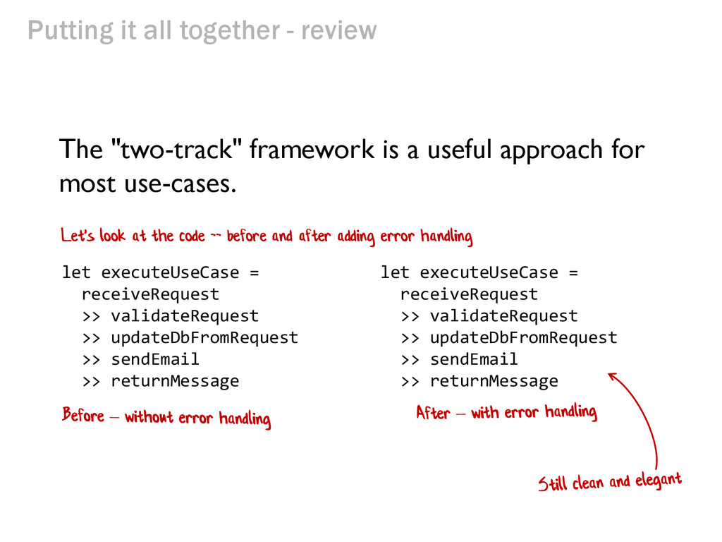 """Putting it all together - review The """"two-track..."""