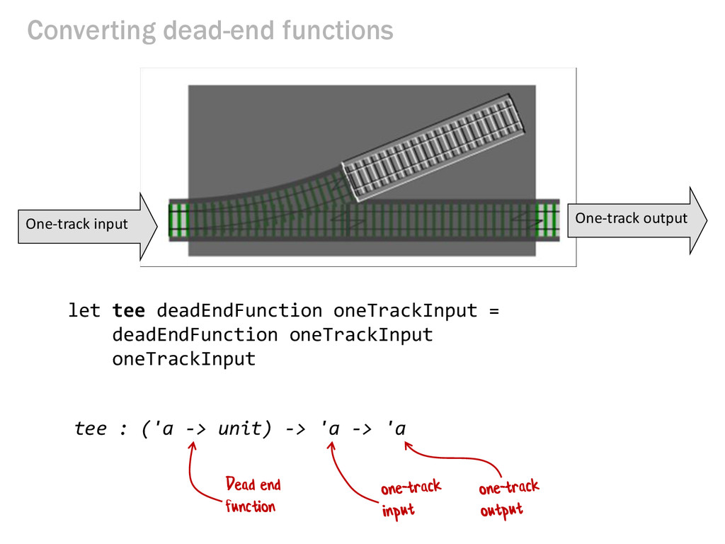 Converting dead-end functions One-track input O...