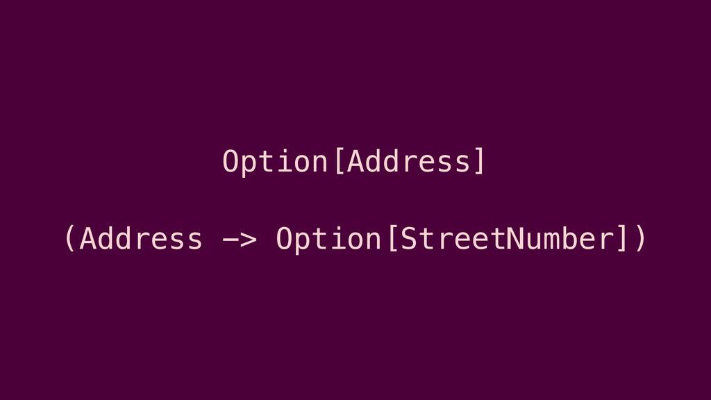 Option[Address] (Address -> Option[StreetNumber...