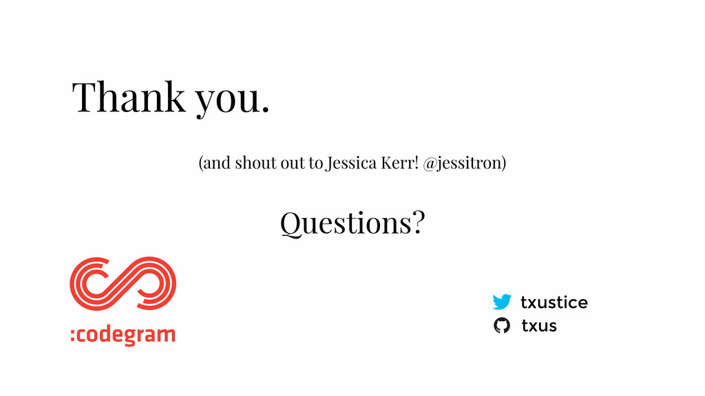 (and shout out to Jessica Kerr! @jessitron) Tha...
