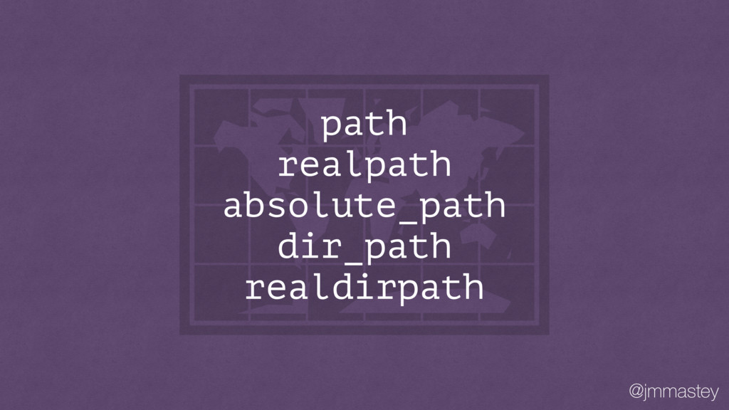 @jmmastey path realpath absolute_path dir_path ...