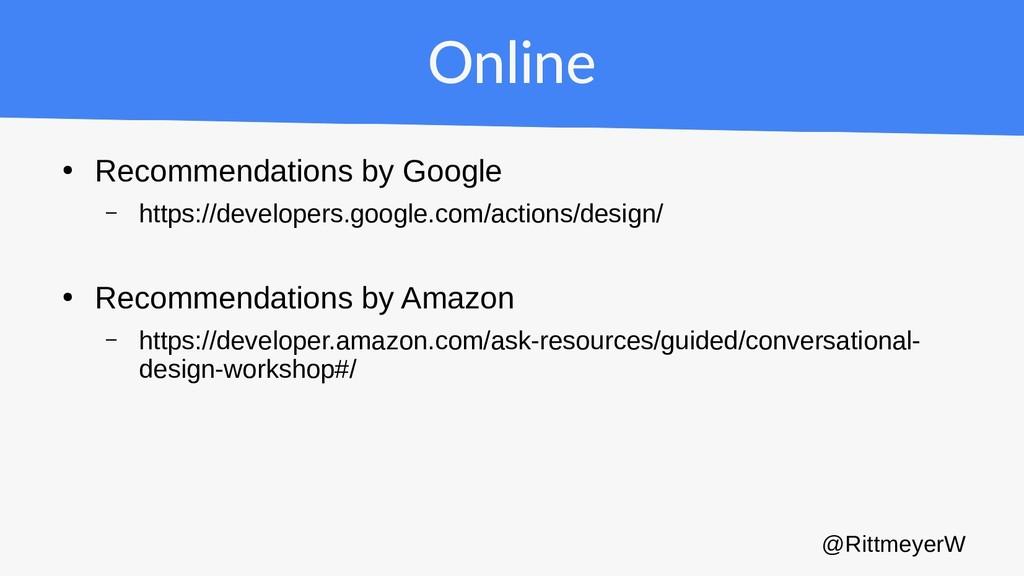 Online ● Recommendations by Google – https://de...
