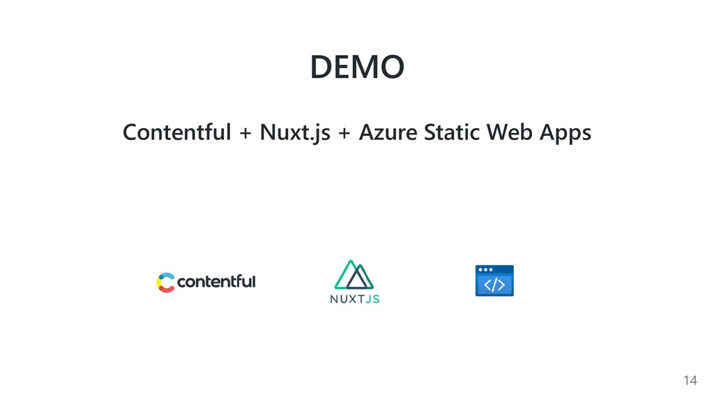 DEMO Contentful + Nuxt.js + Azure Static Web Ap...