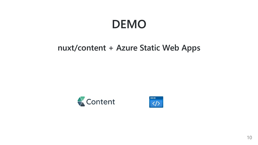 DEMO nuxt/content + Azure Static Web Apps 10