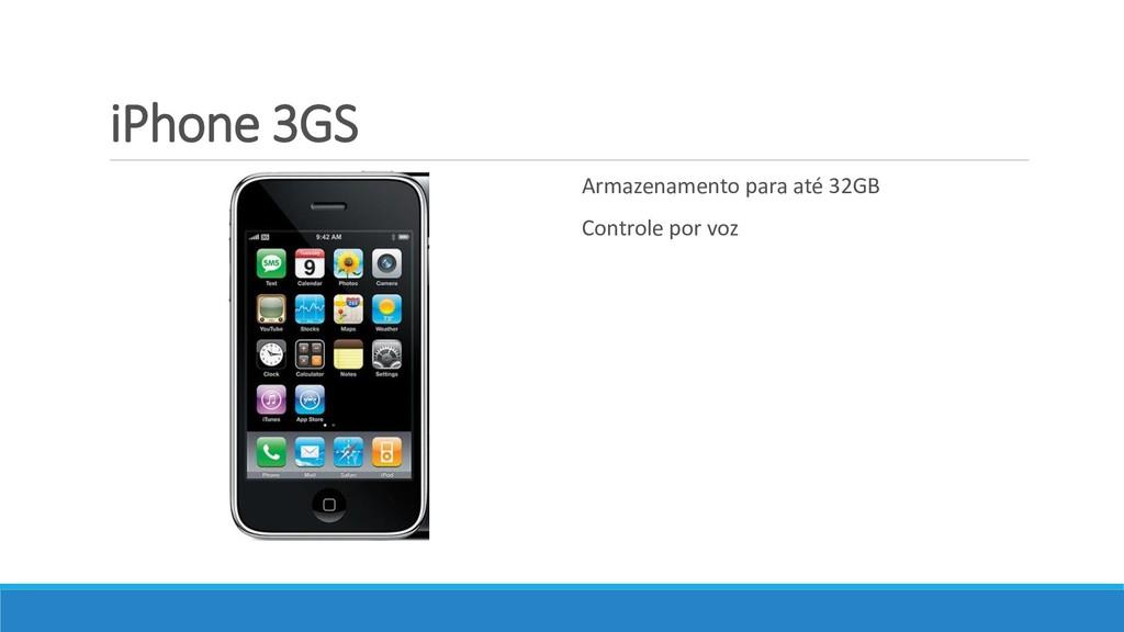 iPhone 3GS Armazenamento para até 32GB Controle...