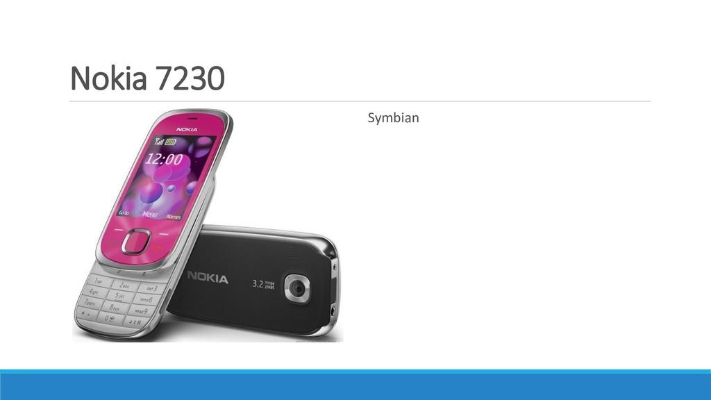 Nokia 7230 Symbian