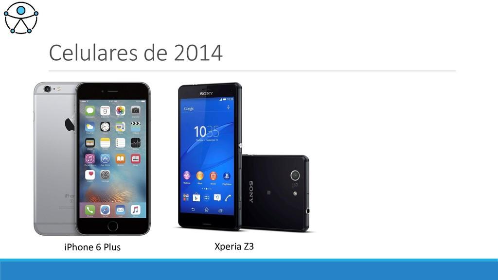 Celulares de 2014 iPhone 6 Plus Xperia Z3