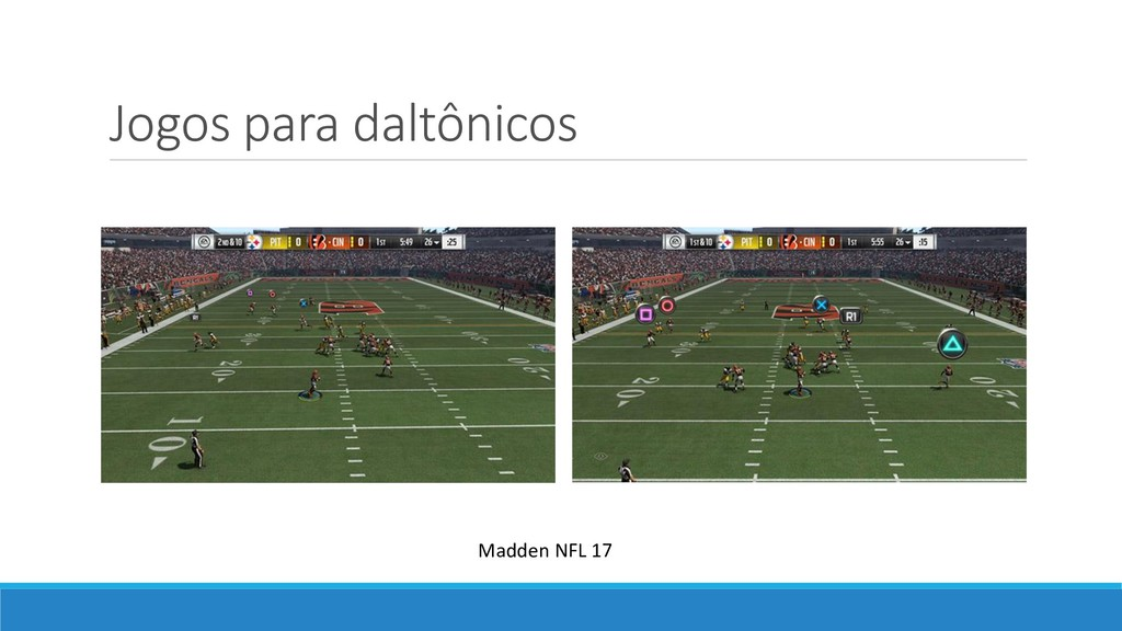 Jogos para daltônicos Madden NFL 17
