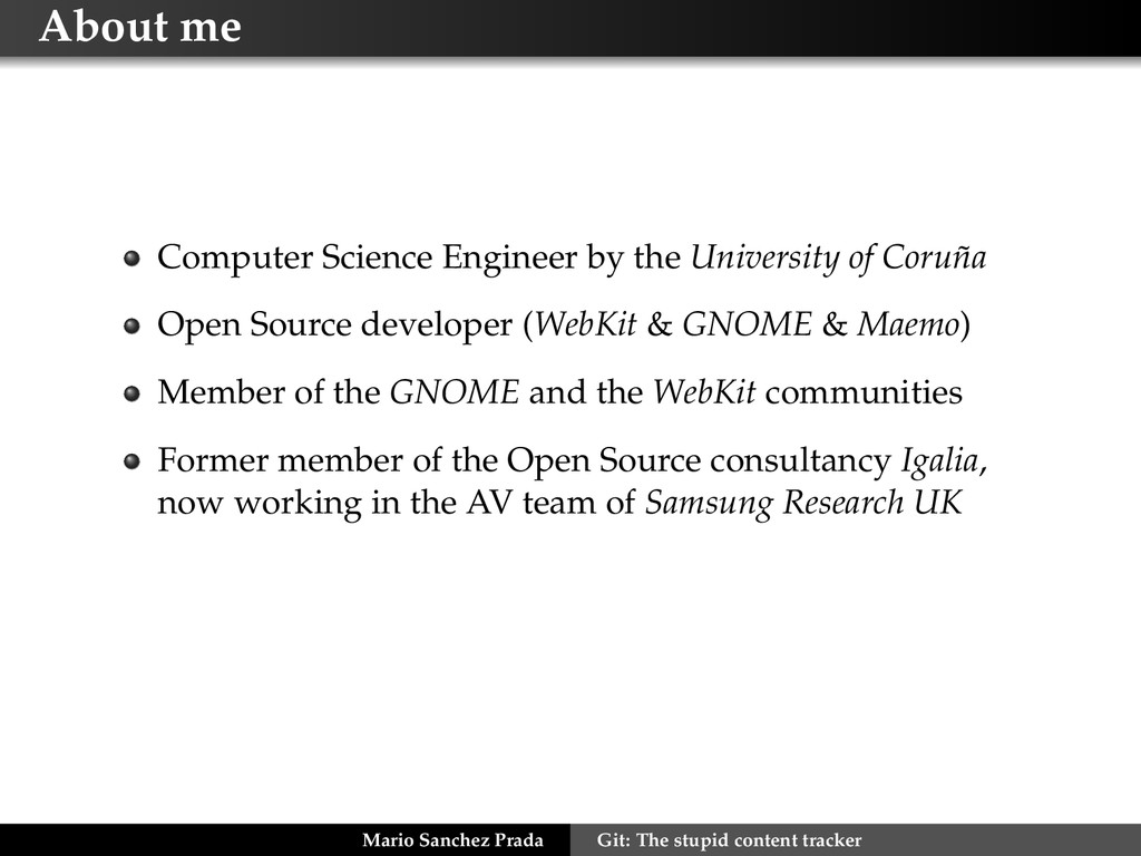 About me Computer Science Engineer by the Unive...