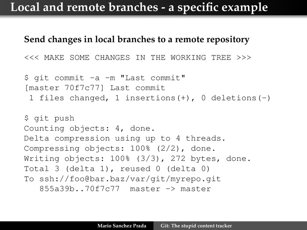 Local and remote branches - a specific example S...