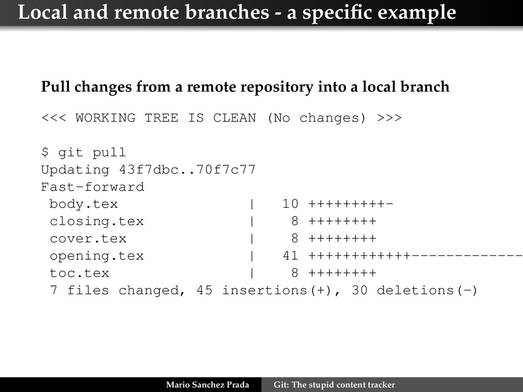 Local and remote branches - a specific example P...