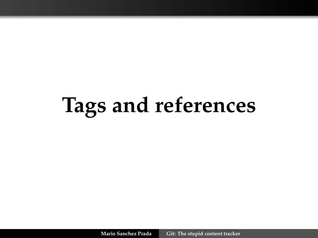 Tags and references Mario Sanchez Prada Git: Th...