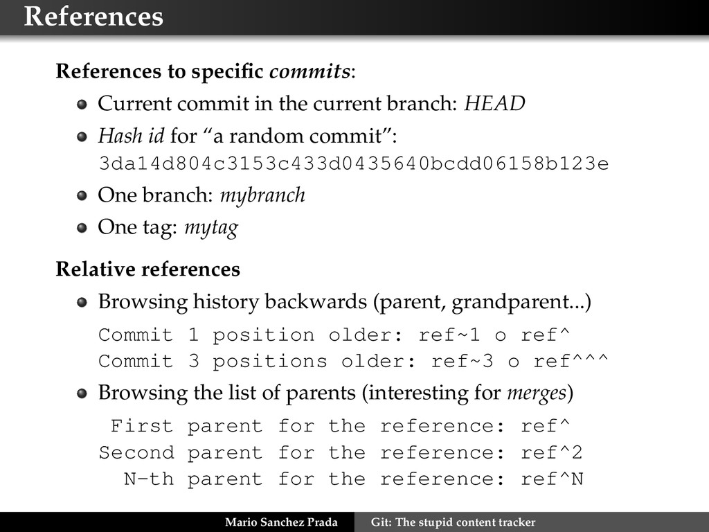 References References to specific commits: Curre...