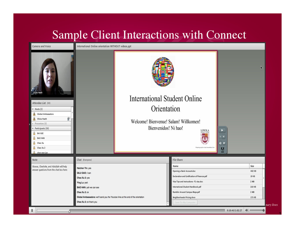 1 4 Sample Client Interactions with Connect
