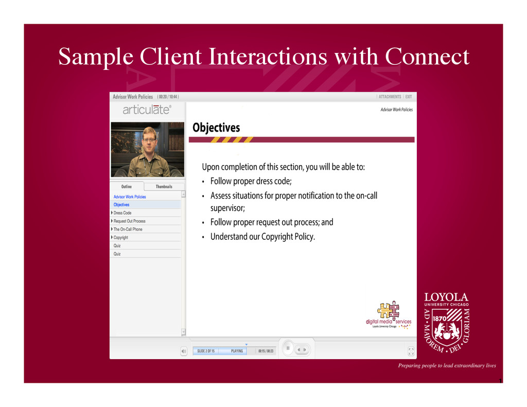 1 6 Sample Client Interactions with Connect