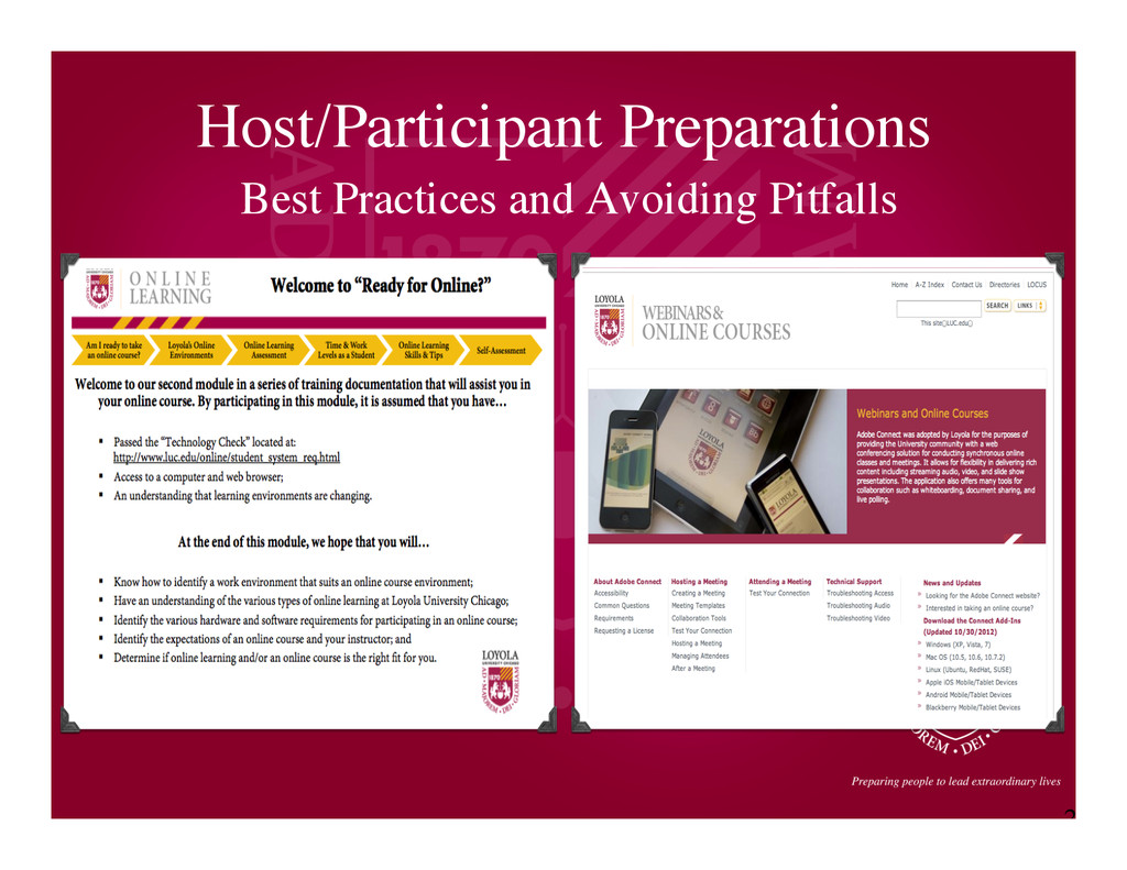 2 1 Host/Participant Preparations	 