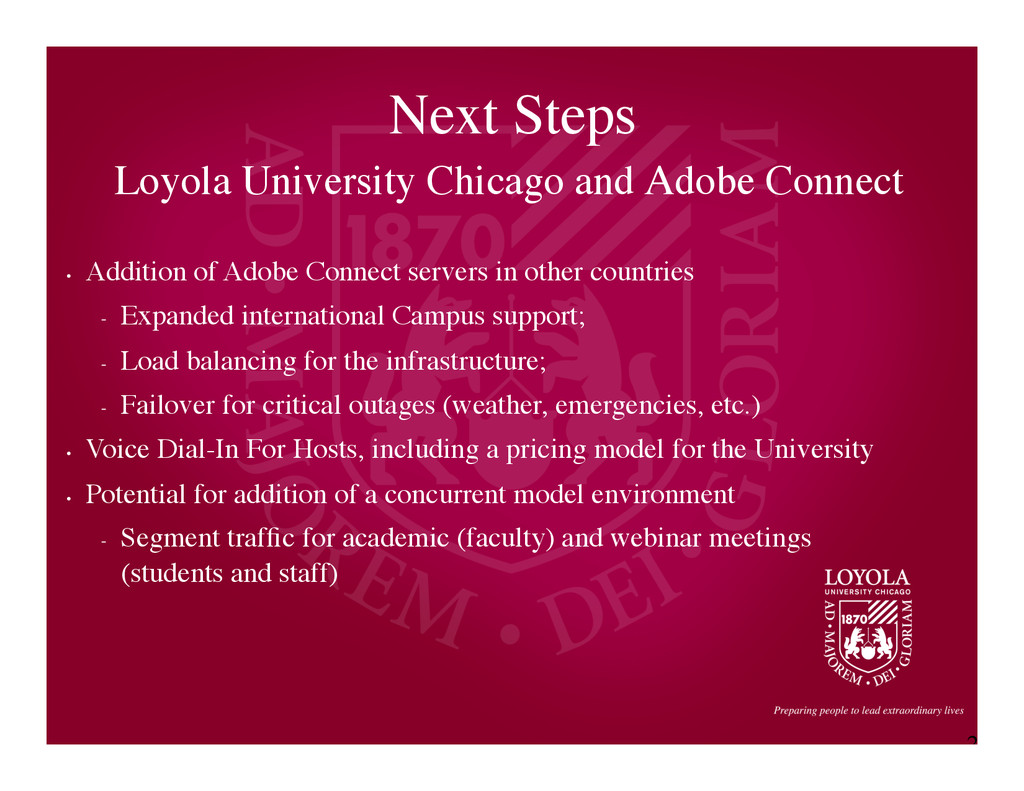 2 2 Next Steps	 