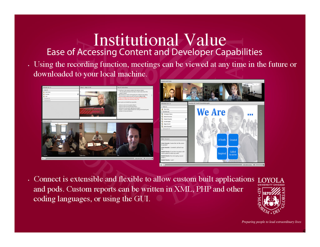 5 Institutional Value	 