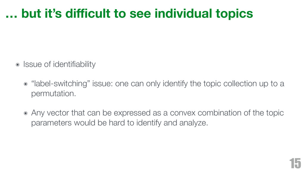 … but it's difficult to see individual topics ๏ I...