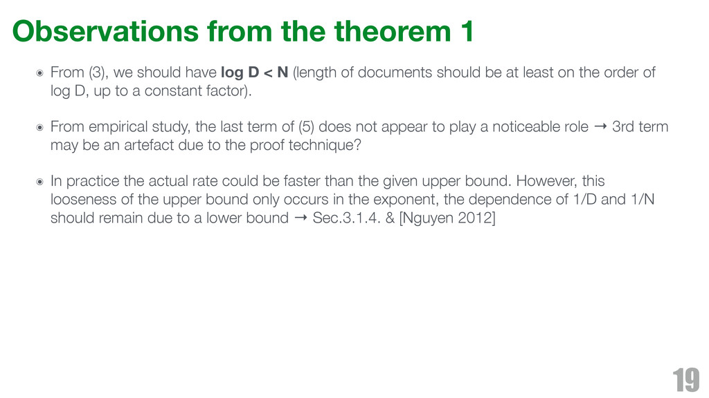 Observations from the theorem 1 ๏ From (3), we ...
