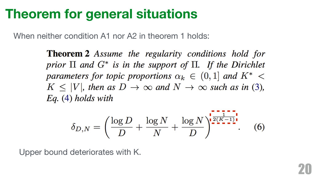Theorem for general situations 20 When neither ...
