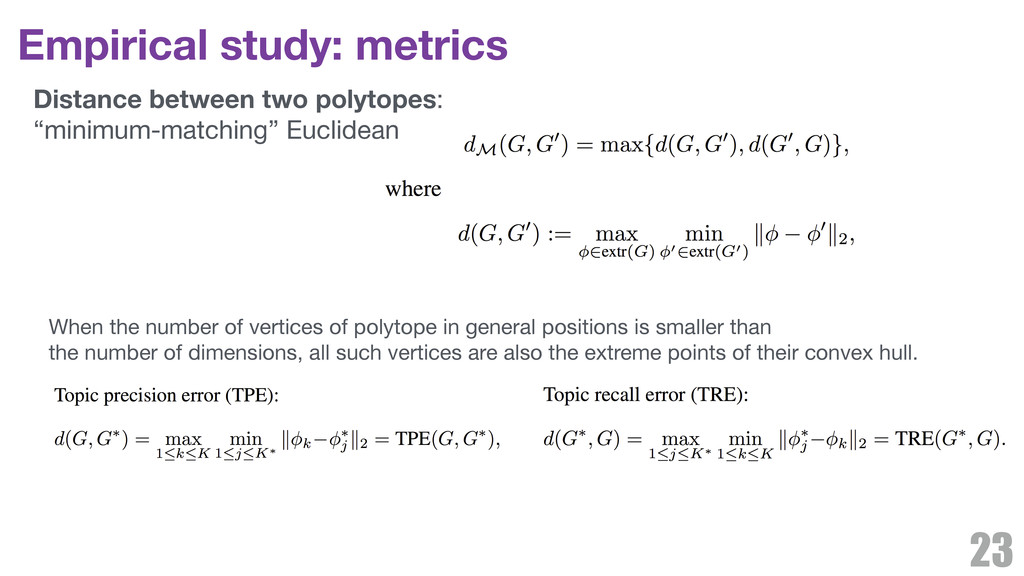 Empirical study: metrics 23 When the number of ...