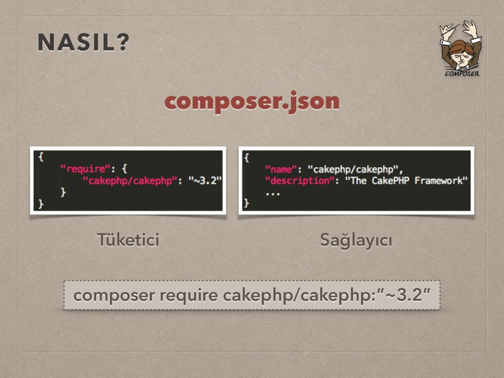 NASIL? Tüketici Sağlayıcı composer.json compose...
