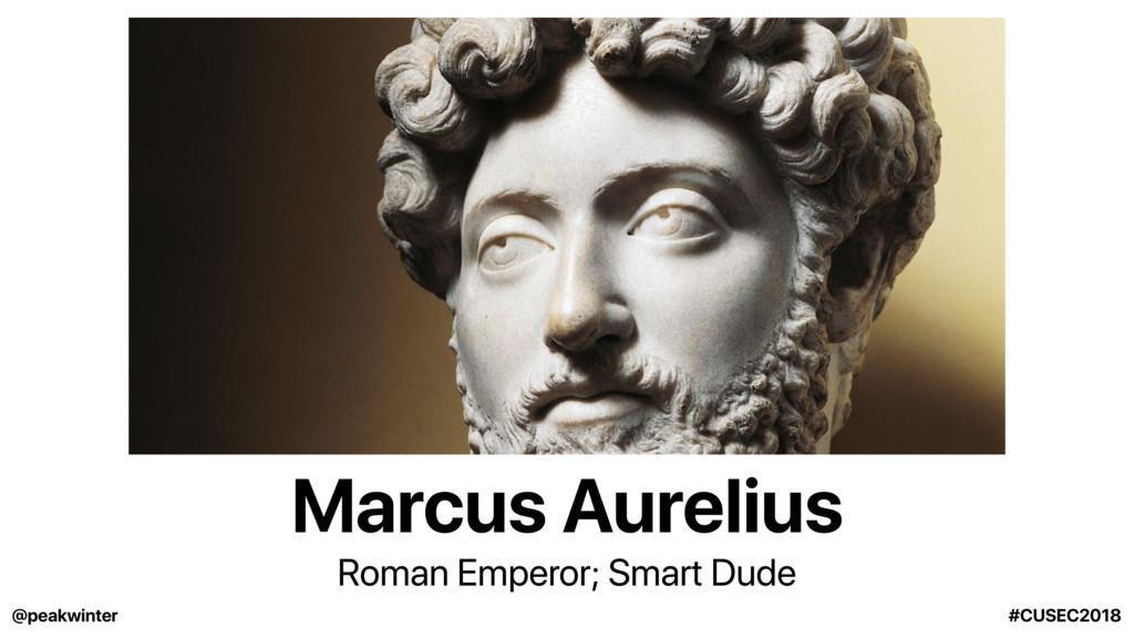 Marcus Aurelius Roman Emperor; Smart Dude @peak...