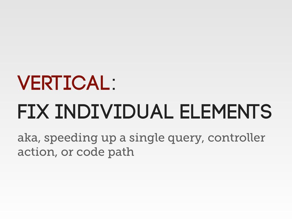 aka, speeding up a single query, controller act...