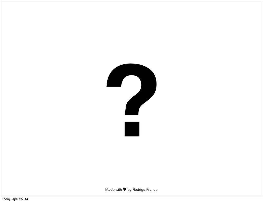 Made with —︎ by Rodrigo Franco ? Friday, April ...