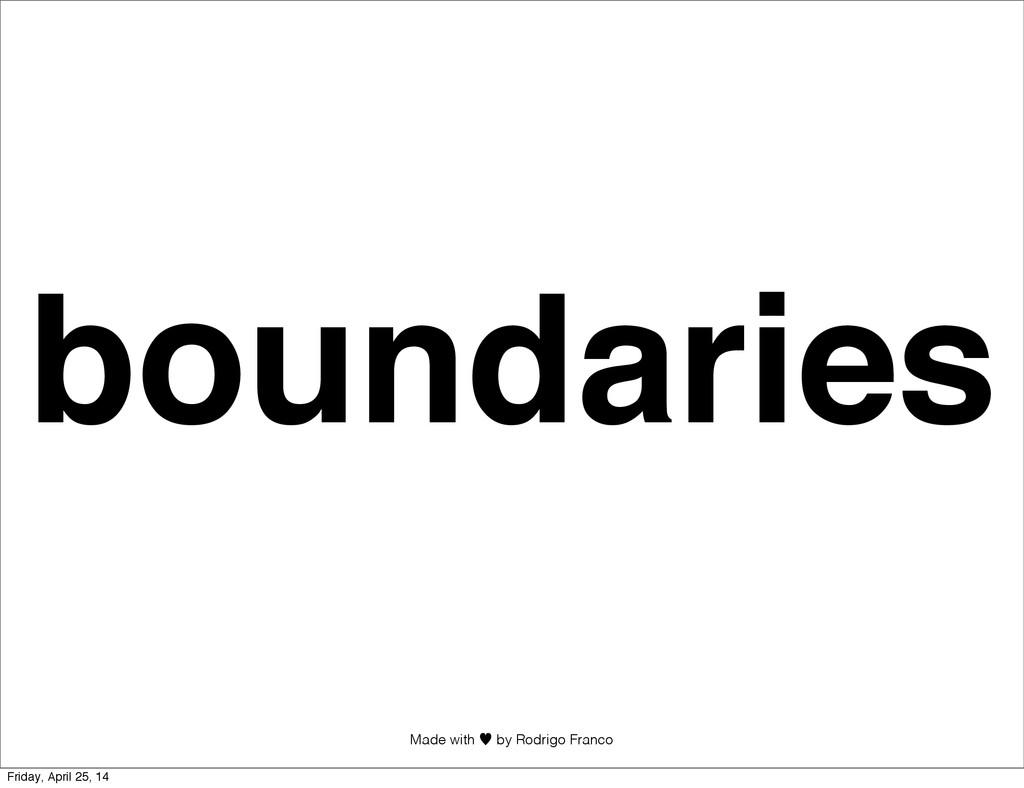 Made with —︎ by Rodrigo Franco boundaries Frida...
