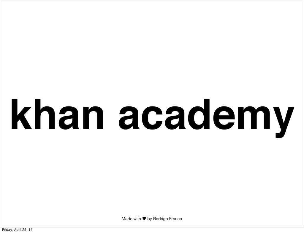 Made with —︎ by Rodrigo Franco khan academy Fri...