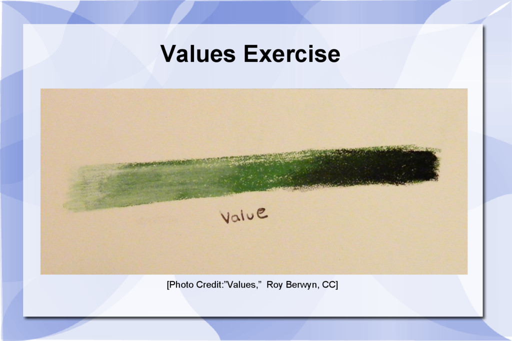 """Values Exercise [Photo Credit:""""Values,"""" Roy Ber..."""
