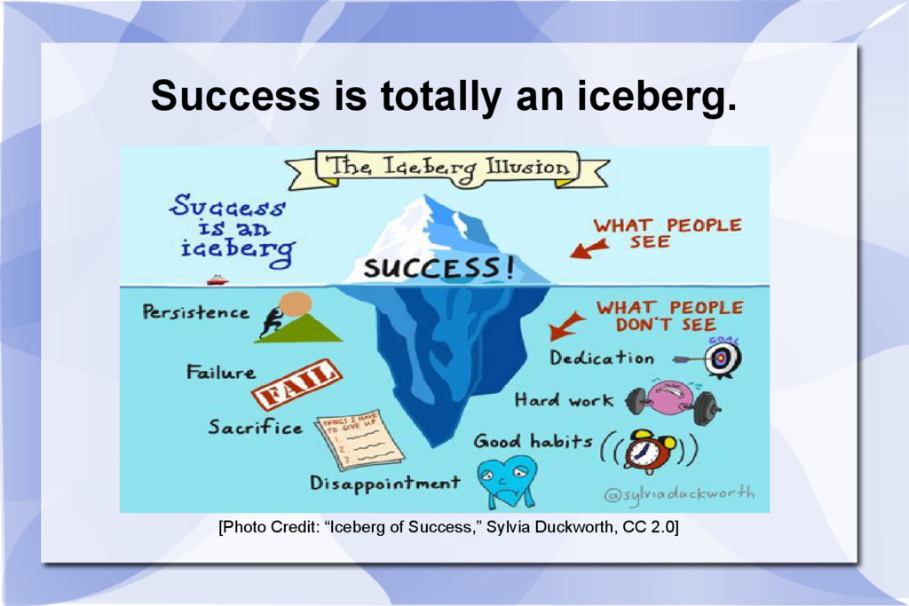 """Success is totally an iceberg. [Photo Credit: """"..."""
