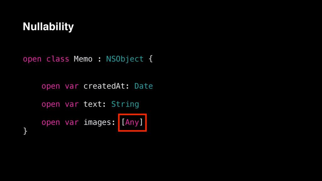 open class Memo : NSObject { open var createdAt...