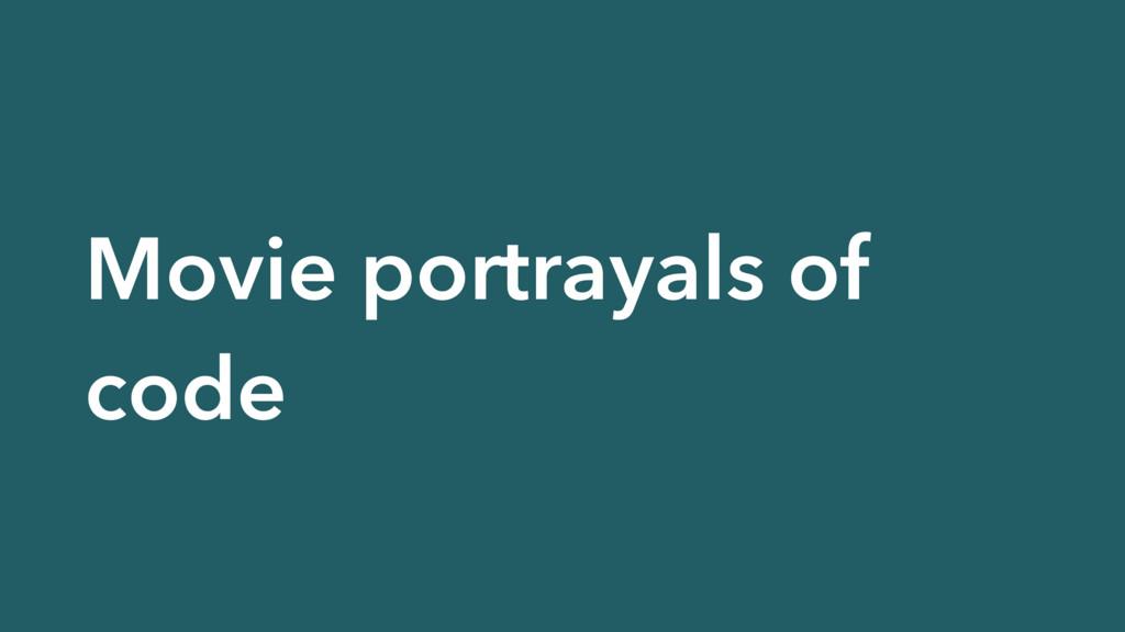 Movie portrayals of code