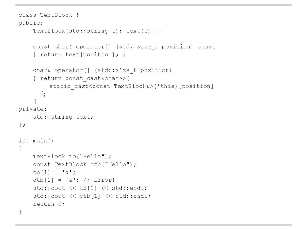 class TextBlock { public: TextBlock(std::string...