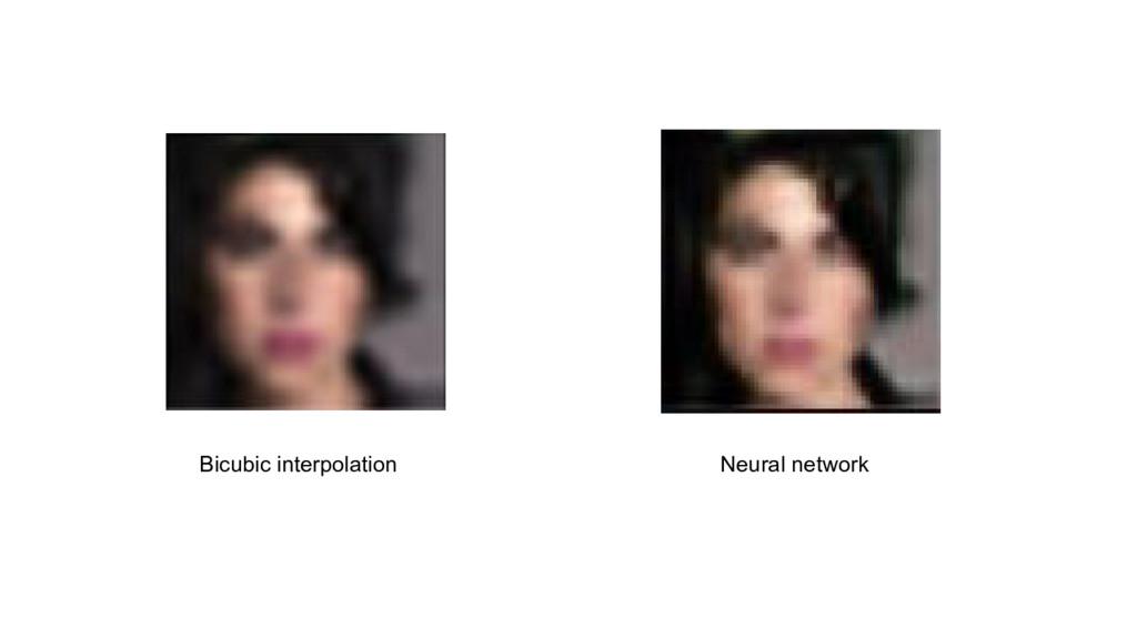 Neural network Bicubic interpolation