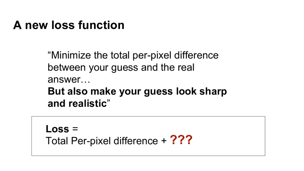 """A new loss function ??? """"Minimize the total per..."""