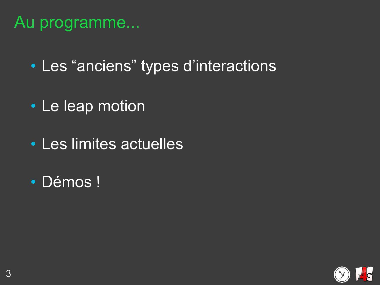 """Au programme... • Les """"anciens"""" types d'interac..."""