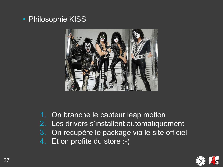 27 • Philosophie KISS 1. On branche le capteur ...