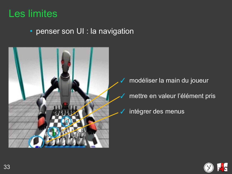 33 Les limites • penser son UI : la navigation ...