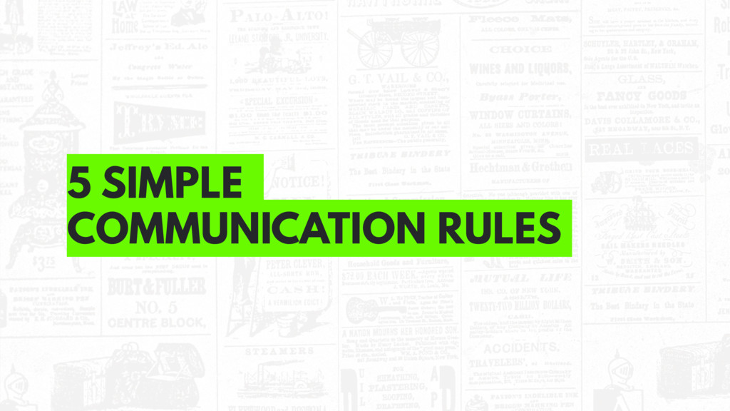 5 SIMPLE COMMUNICATION RULES