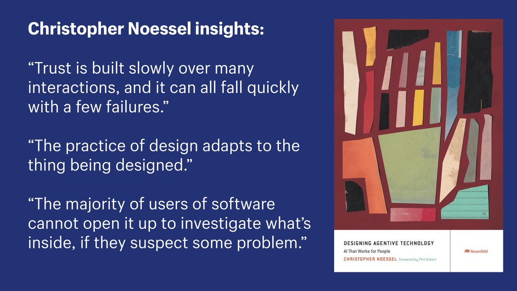 "Christopher Noessel insights: ""Trust is built s..."