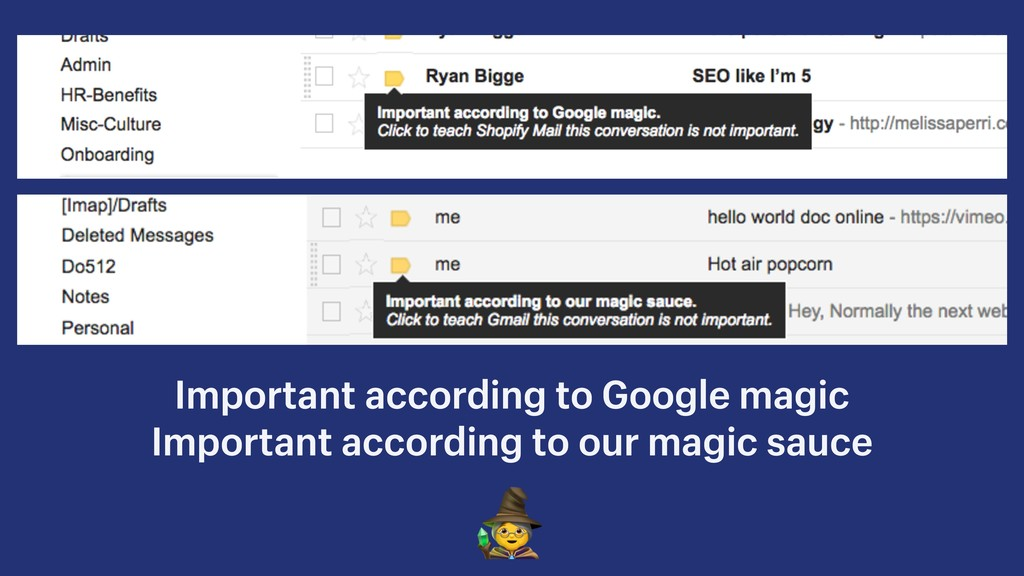 Important according to Google magic Important a...