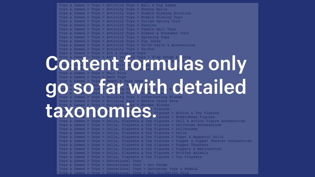 Content formulas only go so far with detailed t...