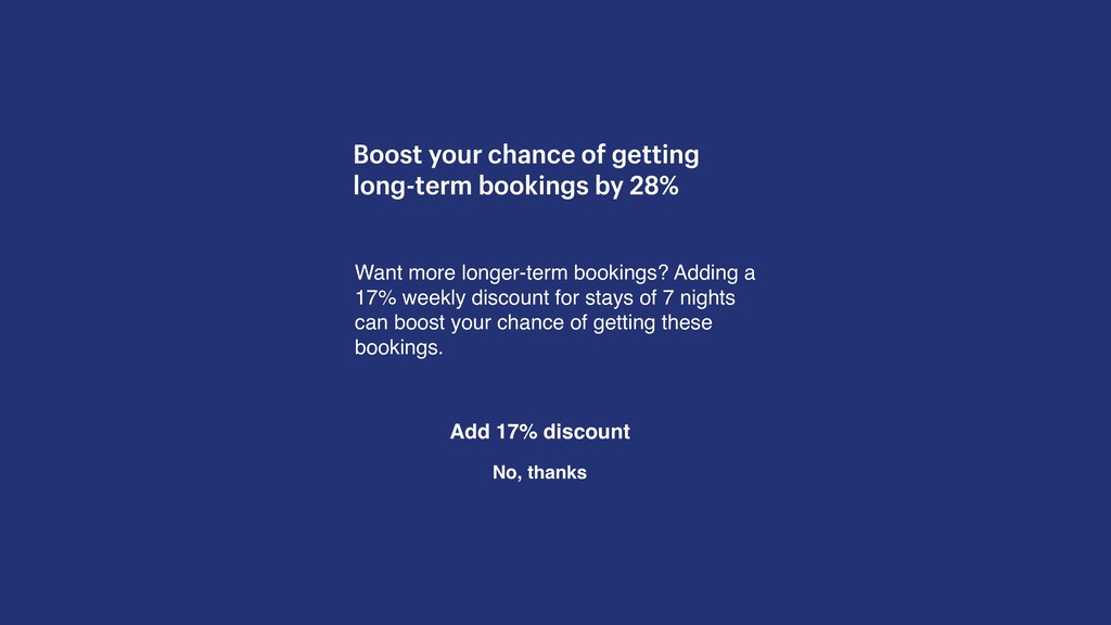 Boost your chance of getting long-term bookings...